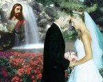 017-Marriage blessing with Jesus, flowers, & waterfall.jpg