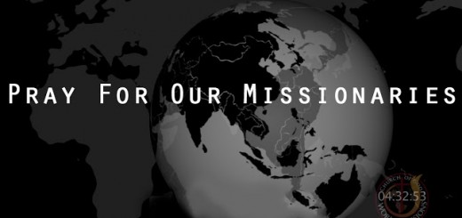Pray for our missionaries screen grab